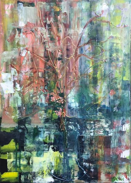 Luise Raithel Autumn</br>50x70cm</br>Acrylfarbe auf Leinwand Acrylmalerei Abstrakte Kunst Expressionismus