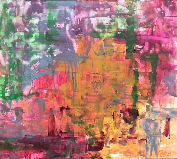 Luise Raithel Changes</br>104,5x93cm</br>Acrylfarbe auf Holz Expressionismus Acrylmalerei
